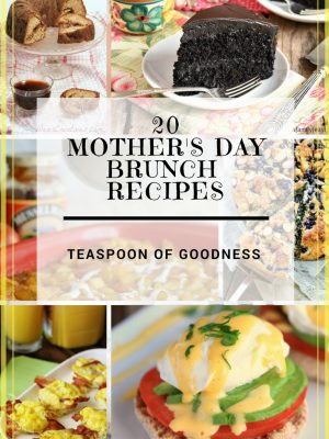 20 of the most amazing Mother's Day Recipes in one post including dessert recipes, egg recipes, breakfast casserole recipes and more!