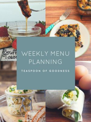Weekly Menu Plan – Week 5
