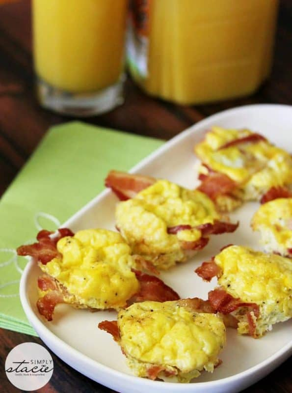 Bacon and egg cups are the perfect low carb breakfast dish with only 2 ingredients!