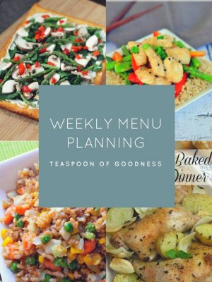 Weekly Menu Plan – Week 6