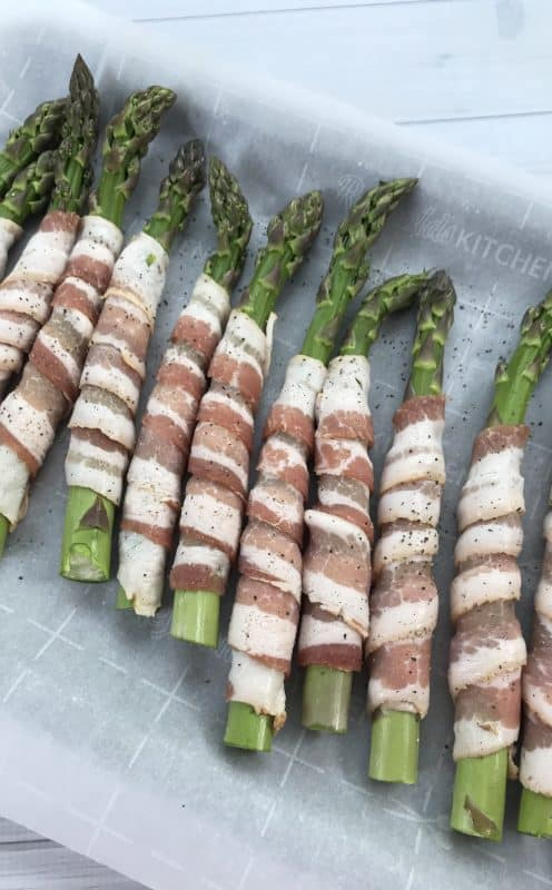 Bacon wrapped asparagus for an easy and delicious side dish recipe.