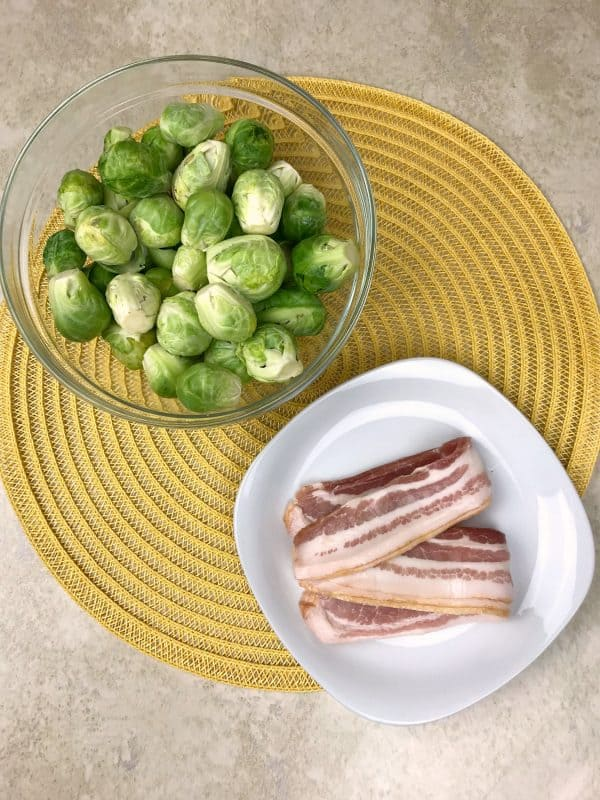 ingredients needed for bacon and brussel spouts recipe
