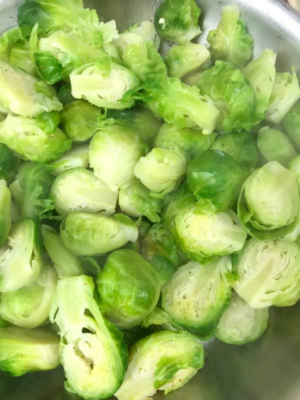 brussel sprouts cut in half