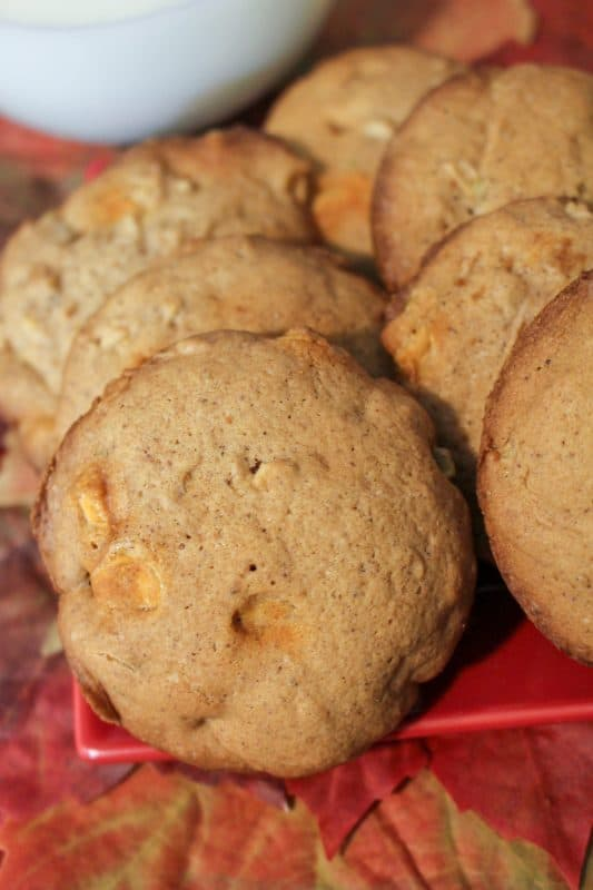 Salted Caramel Apple Cookies that are so moist you won't be able to keep your family out of them!