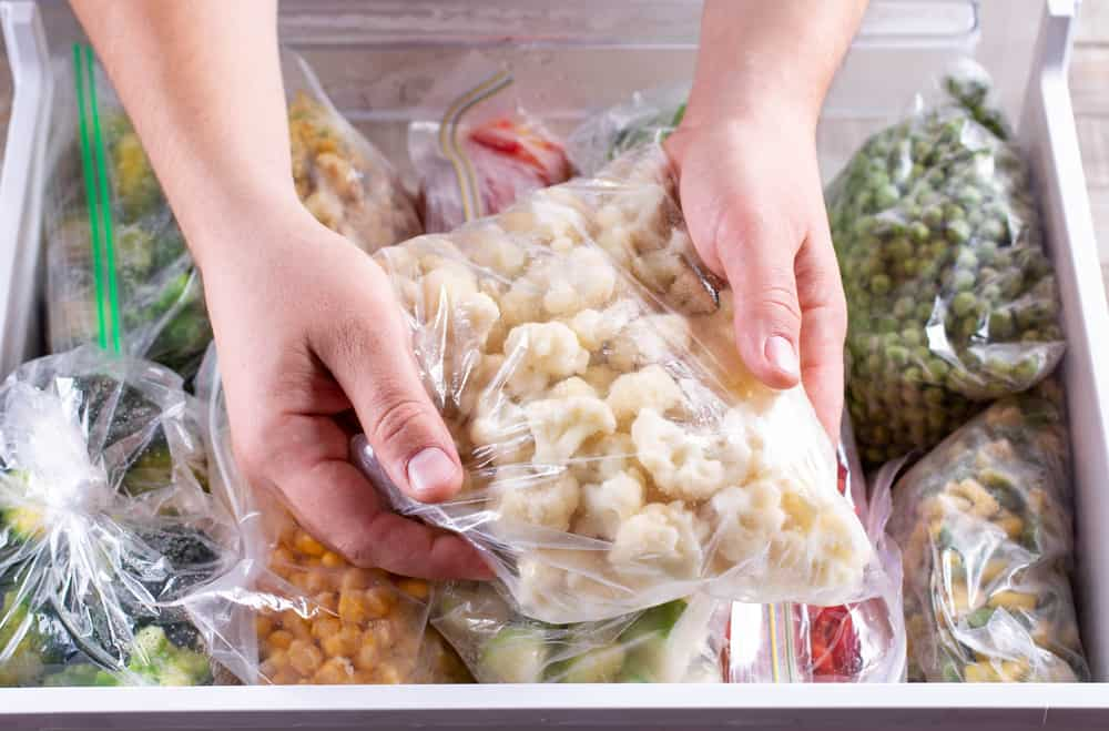 Storing your cauliflower in the freezer